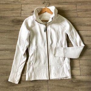 Lululemon Radiant Jacket Gold Angel White Fleece